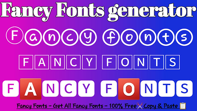 Fancy Fonts Generator