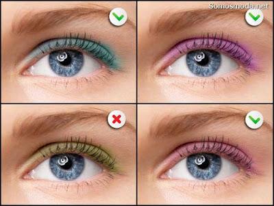 Sombras para ojos azules / grises