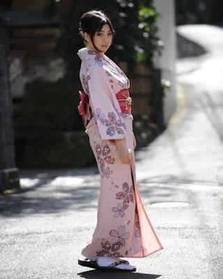Mayavi Matsunoi in Japanese traditional Kimono
