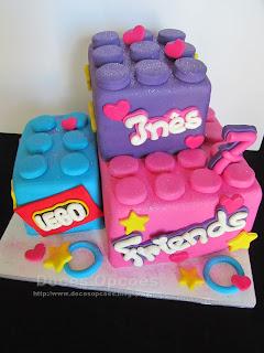 Bolo de aniversário Lego Friends