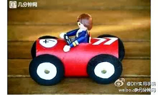 Aneka Kerajinan Tangan Dari Barang Bekas, Mobil Mainan Dari Karton Bekas Tissue