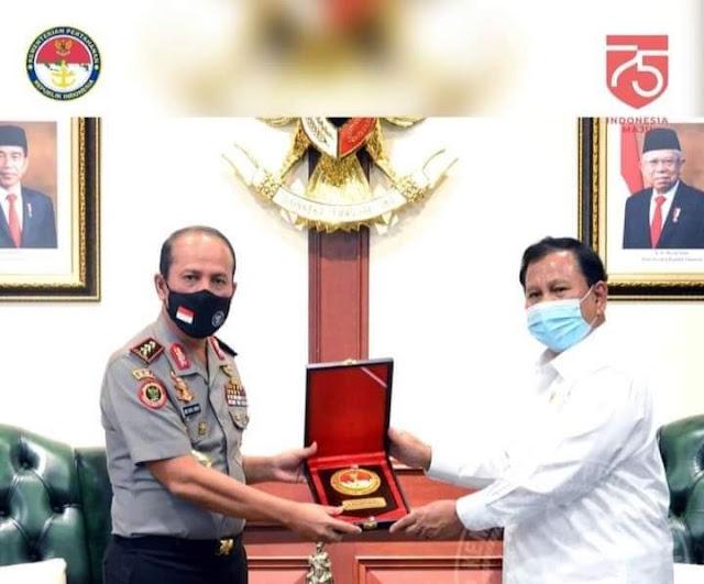 Menhan Terima Kunjungan Kerja BNPT