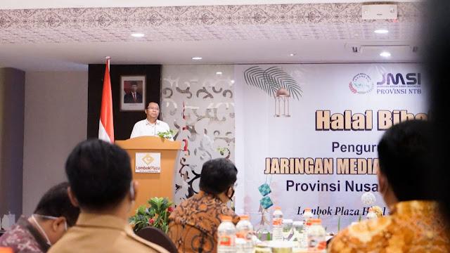Acara Halal Bihalal JMSI NTB, Gubernur NTB : Sebarkan Informasi Bermanfaat untuk Kemajuan Daerah