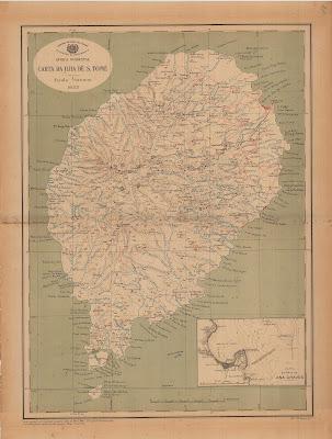 Sao Tomé mappa antica