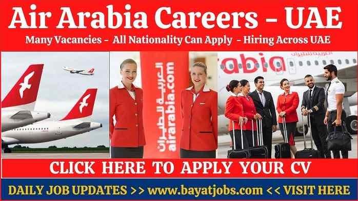 Air Arabia Careers in Sharjah & Across UAE 2020