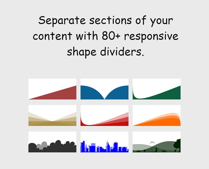 shape dividers