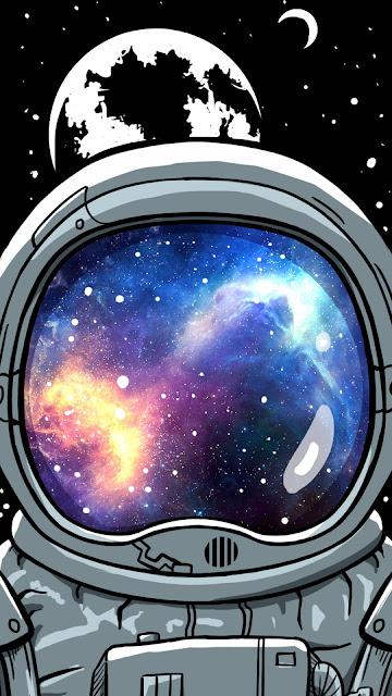 Astronauta Papel de Parede para Celular Espaço