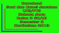 download soal dan kunci jawaban uts bahasa jawa kelas 2 sd semester 2 kurikulum 2013
