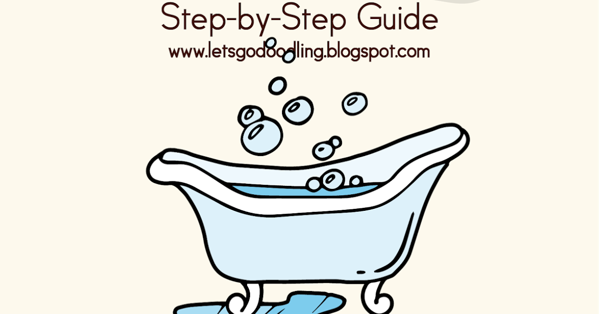 How To Draw Bathtub Easy Step By Step Drawing Tutorial