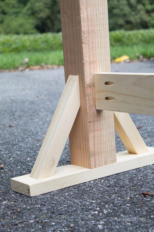 How to build farmhouse style table legs
