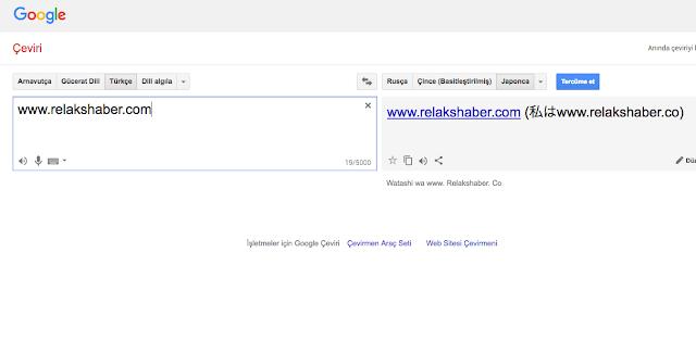 web sitesi çevirme google translate