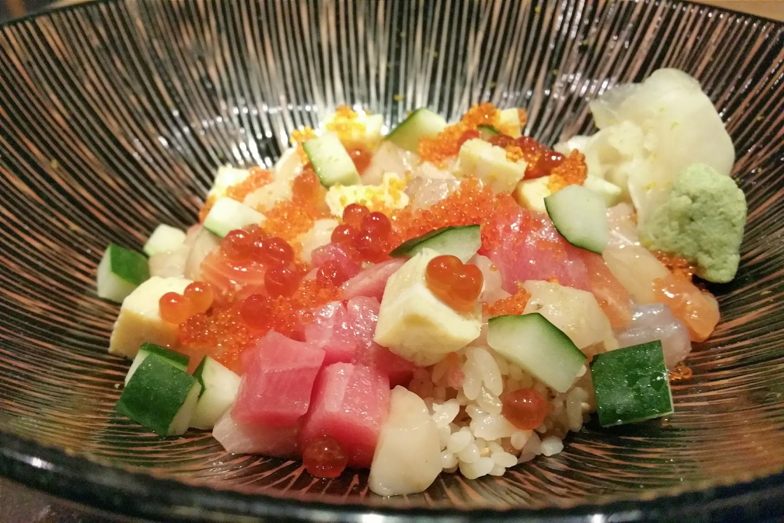 My adventures sushi jin for Sashimi dressing