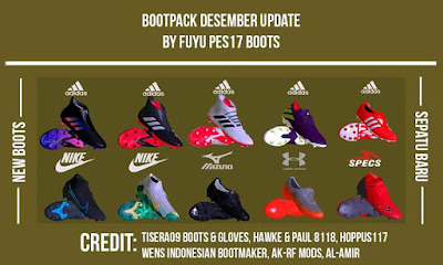 PES 2017 Boot Repack AIO December 2019 by FuyuPES17 Boots