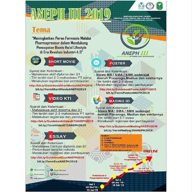 Event ANEPH III Nasional 2019 Pelajar & Mahasiswa