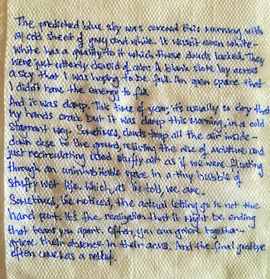 Napkin writing by Ariana Ross