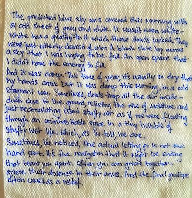 Napkin writing by Ariana Ross