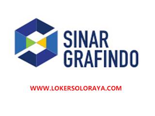 Lowongan Kerja Karanganyar, Solo, Jakarta dan Surabaya Mei 2021 di PT Sinar Grafindo