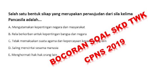 Bocoran Soal SKD TWK CPNS 2019-2020