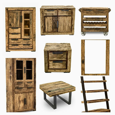 Railway sleeper wood furniture image
