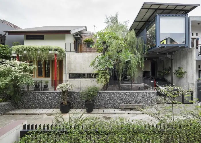 Jenis Atau Model Desain Rumah Minimalis - Rumah Minimalis Dengan Sentuhan Batu Alam