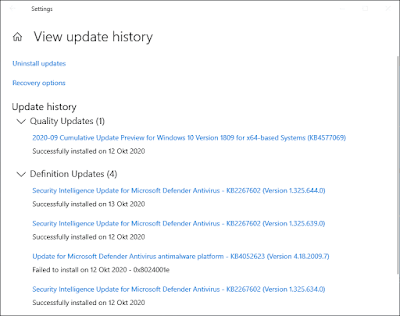 Log History Windows Update Di Windows 10