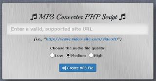 Harga MP3 Converter PHP Script di envato