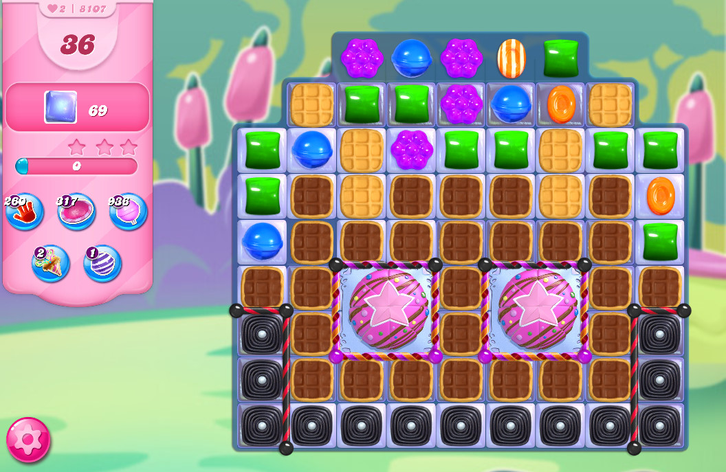 Candy Crush Saga level 8107
