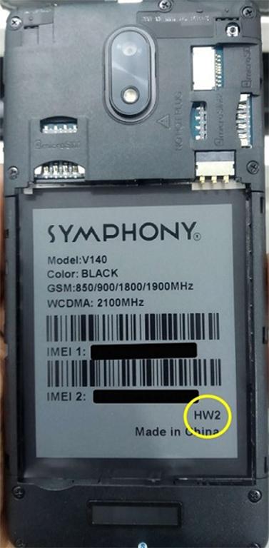 Symphony V140 Flash File | Without Password