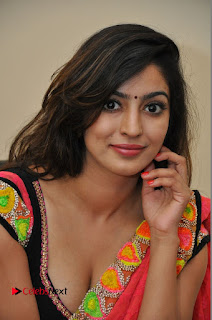 Actress Vaibhavi Joshi Pictures in Red Saree at tur Talkies 2 Movie Opening 0071