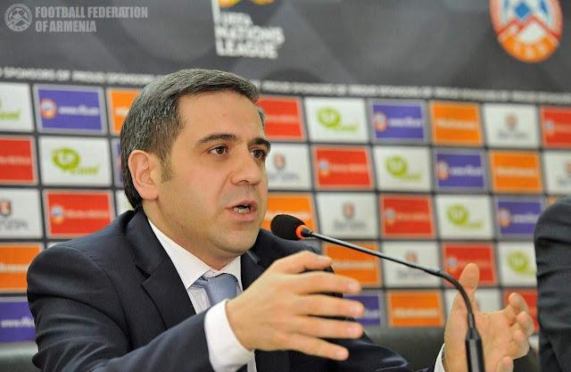 Nuevo presidente de la Federación de Fútbol de Armenia