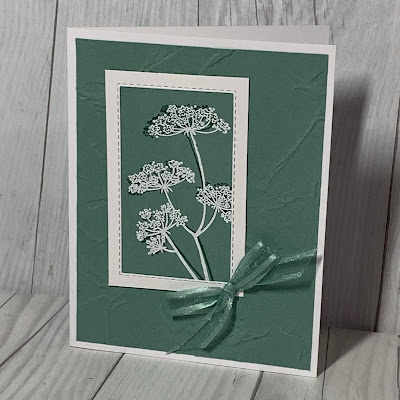 Hand stamped floral greeting card using the Stampin' Up!