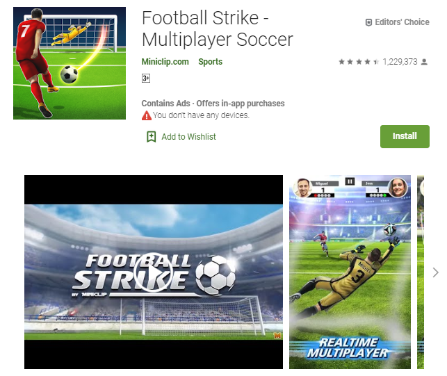 Game Bola Terabru Football Strike - Multiplayer Soccer