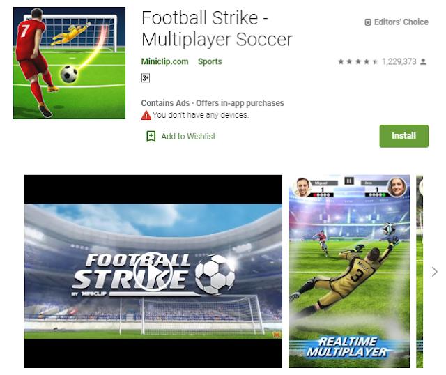 Game Bola Terabru Football Strike - Multiplayer Soccer
