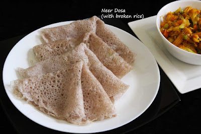 neer dosa with rice brown rice broken rice dosa healthy dosa for kids