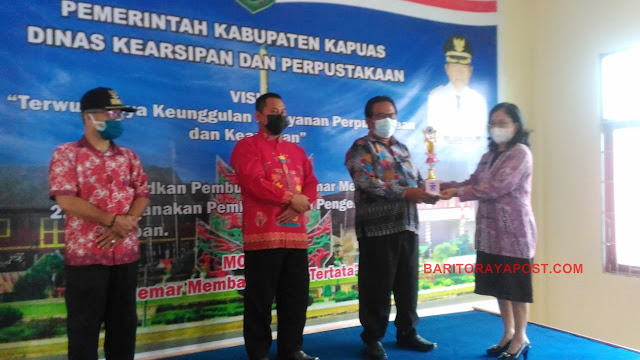 Desa Bungai Jaya Raih Penghargaan Perpustakaan Desa/Kelurahan Tingkat Kabupaten Kapuas 2021