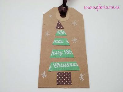abeto navideño, etiqueta gloriarte