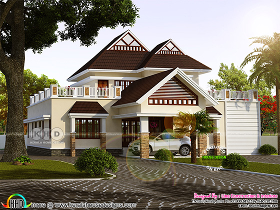 Fusion Kerala home design