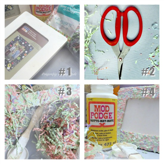 Picture Frame directions for Mod Podge Kids project, Summer Fun Series, Guest Blog