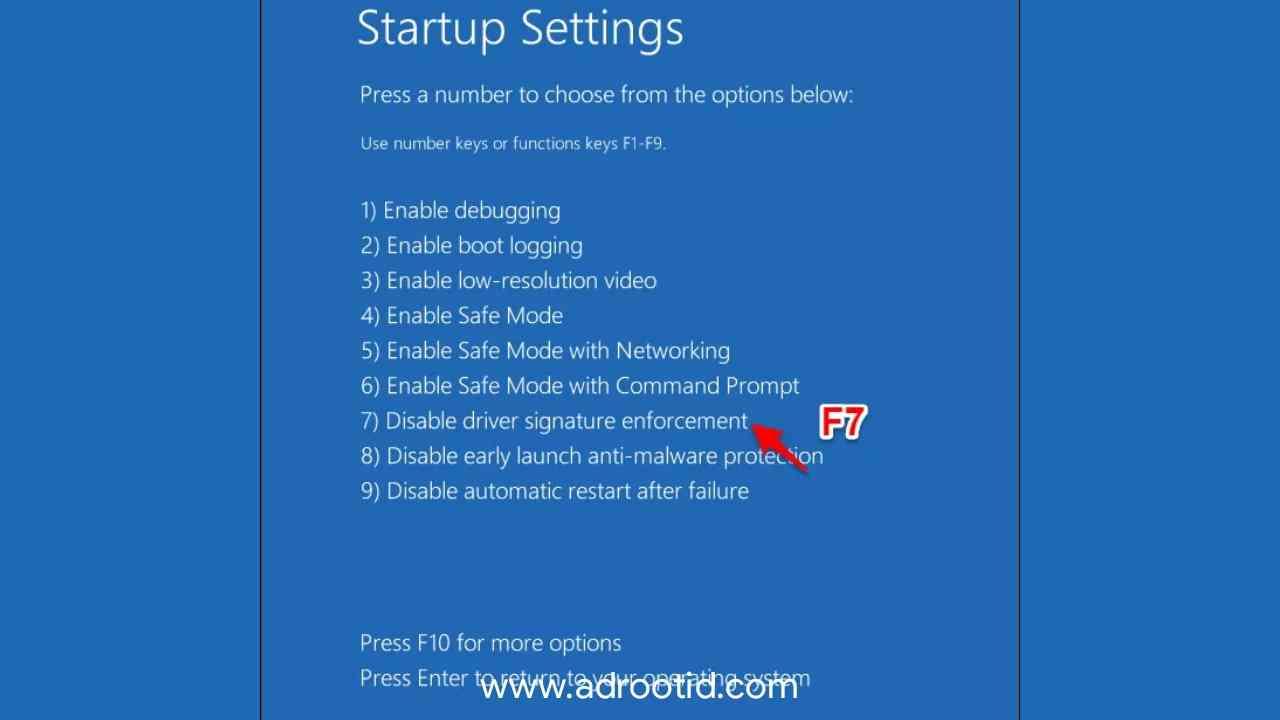 Cara Mudah Disable Windows Siganture Windows 10