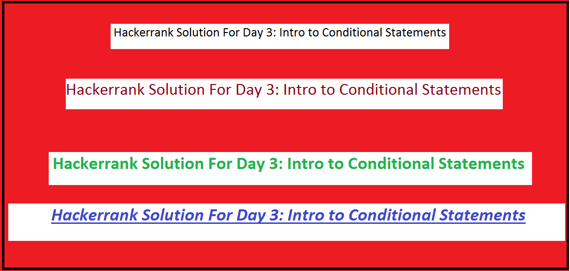Hackerrank Solution For Day 3: Intro to Conditional Statements