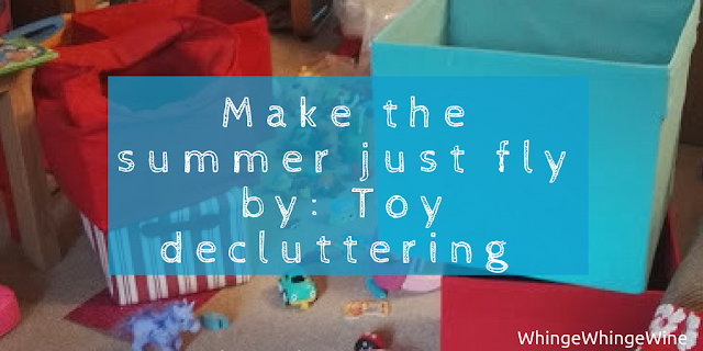 Looking for ways to make the summer holidays go quickly? Why not take every single toy in the house and attempt to rationalise them in a new toy storage concept.