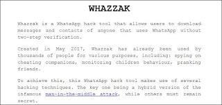 melihat akun whatsapp orang lain dengan tool whazzak tehnomac