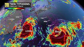AGOSTO UN MES AGITADO: tifones , huracanes , incendios forestales por todo el planeta.