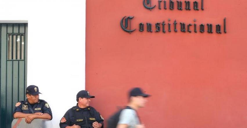 TC: Tribunal Constitucional verá el miércoles 18 demanda competencial sobre la vacancia