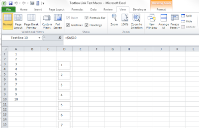 How to link a shape to a cell Excel Macro