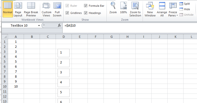 Excel spreadsheets help how to link a textbox to a cell for Excel templates with macros