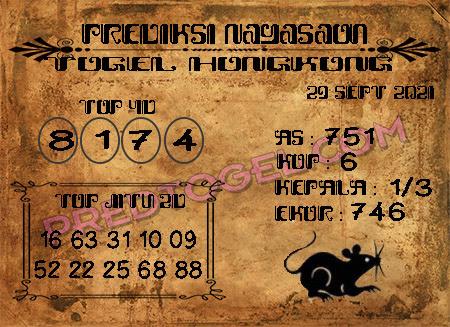 Nagasaon HK Rabu 29 September 2021 -