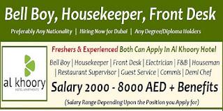 Al Khoory Hotel Jobs In Dubai Latest Vacancies Apply Online