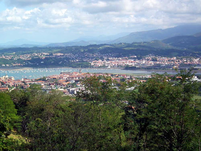 View across Hondarribia and Hendaye on the French-Spanish border. Photographed by Susan Walter. Tour the Loire Valley with a classic car and a private guide.