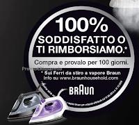Logo ''Ferro da Stiro a vapore Braun: 100% soddisfatto o ti rimborsiamo''